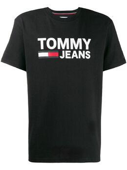 Tommy Jeans футболка с вышитым логотипом DM0DM04837