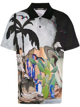 Roberto Cavalli рубашка поло с принтом Surreal Postcard KNT690XKU35