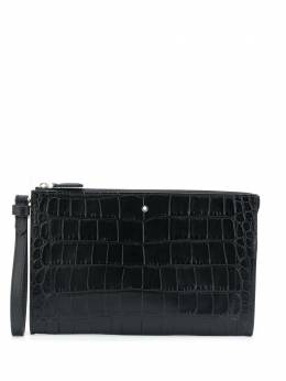 Montblanc Selection crocodile effect clutch 126632