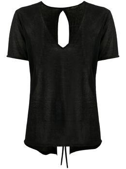 Roberto Collina футболка с бантом C09022