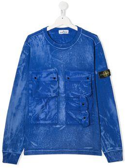 Stone Island Junior толстовка с карманами MO721662245