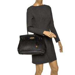 Hermes Black Togo Leather Gold Hardware Birkin 35 Bag 295867