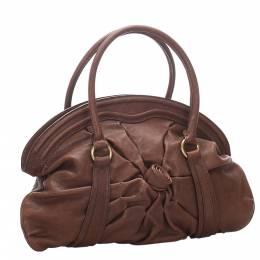 Valentino Brown Leather Satchel Bag 295665