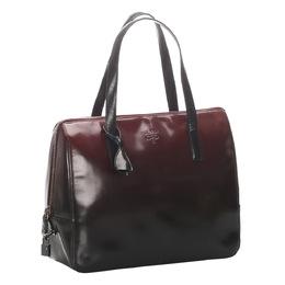 Prada Black/Red Patent Leather Tote Bag 295343