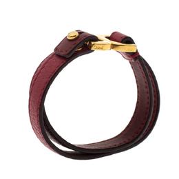 Chloe Red Leather Double Wrap Bracelet 295695