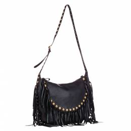 Valentino Black C-Rockee Leather Hobo Bag 295496