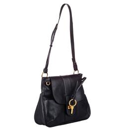 Chloe Black Leather Medium Lexa Bag 286650