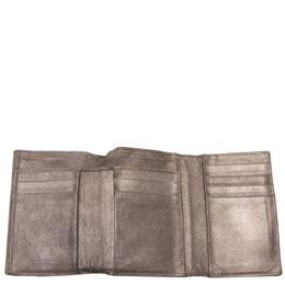 Bottega Veneta Brown Intrecciato Leather Calfskin Tri-Fold Wallet 285449
