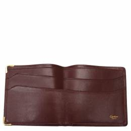 Cartier Red Leather Must De Cartier Card Case 285369
