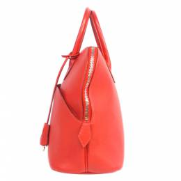 Hermes Red Leather Bolide 1923 30 Bag 285184
