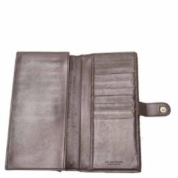 Bottega Veneta Black Intrecciato Leather Calfskin Long Wallet 285453
