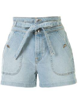 Frame джинсовые шорты с поясом и завышенной талией TWTSH204