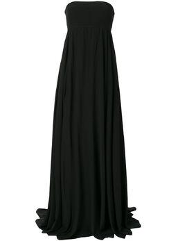 Vera Wang атласное платье ампирного силуэта R220G01