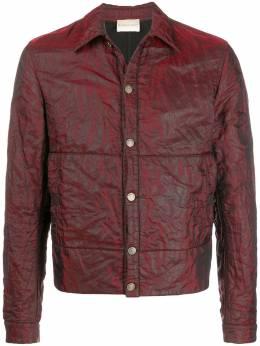 Romeo Gigli Pre-Owned куртка-рубашка с жатым эффектом ROM380GL