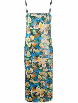 M Missoni платье миди с пайетками и цветочным принтом 2DG003592W003K