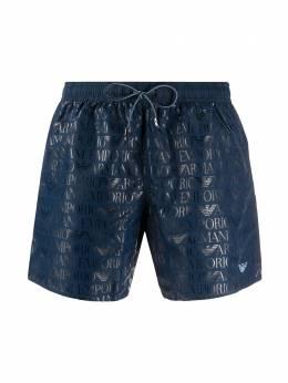 Ea7 плавки-шорты с логотипом 2117400P430