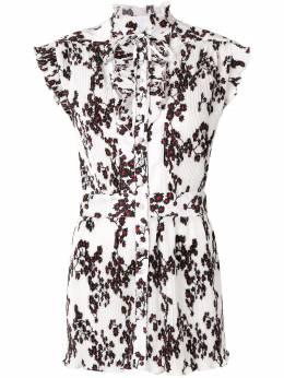 Paco Rabanne плиссированная блузка с цветочным принтом TO128
