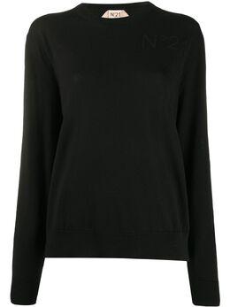 No. 21 logo-knit jumper 20EN2M0A0067019