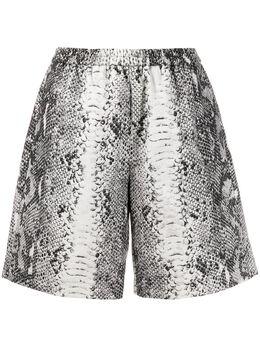 No. 21 snakeskin-print shorts 20EN2M0D0430098