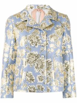 No. 21 floral jacquard double-breasted jacket 20EN2M0L0225899