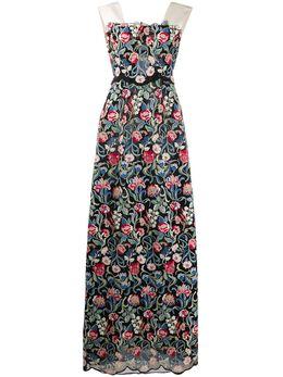 Valentino Pre-Owned вечернее платье 2013-го года с цветочным принтом VALE7500