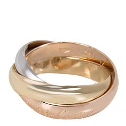 Cartier 18K Three Tone Gold Le Must De Trinity Ring Size 49 279505