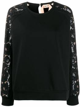 No. 21 lace long-sleeved crew neck sweatshirt 20EN2P0E0624211