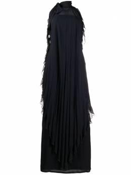 Valentino Pre-Owned платье с вырезом халтер и оборками VAL7900