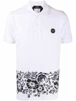 No. 21 рубашка поло с цветочным принтом 20EN1M0F0726318