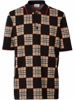 Burberry Checker short-sleeved polo shirt 8029406