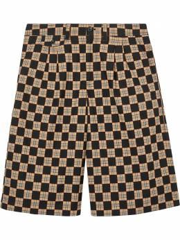 Burberry жаккардовые шорты в шахматную клетку 8029280
