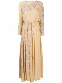 Valentino Pre-Owned платье 1970-х годов с цветочной вышивкой VALNT12000