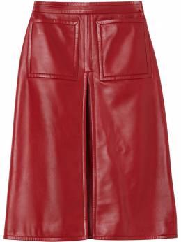 Burberry юбка А-силуэта со складками 8030102