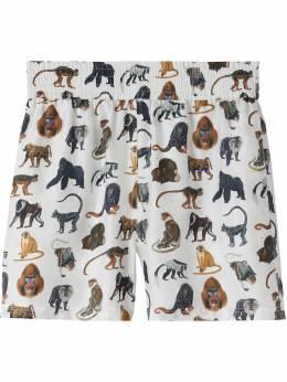 Burberry Monkey print elasticated waist shorts 8031069