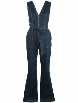 Alice + Olivia джинсовый расклешенный комбинезон CD489301SGI