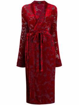 Ann Demeulemeester платье с запахом и жаккардовым цветочным узором 19022252P123