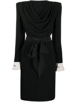 Valentino Pre-Owned платье с драпировкой VALE5000