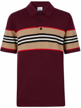 Burberry Icon stripe detail polo shirt 8029416