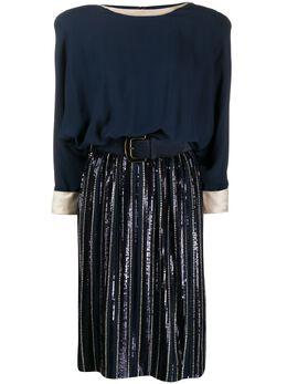 Valentino Pre-Owned платье миди 1980-х годов с поясом VALE6300N