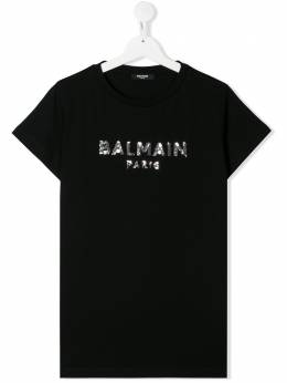 Balmain Kids TEEN sequin embellished T-shirts 6N8041NC610