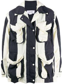 Sunnei полосатая куртка оверсайз MJ03BCR05