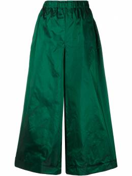 Daniela Gregis блестящие брюки палаццо из тафты P7FST1