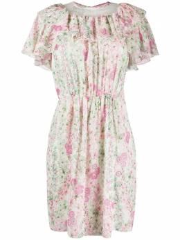 Giambattista Valli платье с оборками и цветочным принтом 20SSPVCI550515FLA