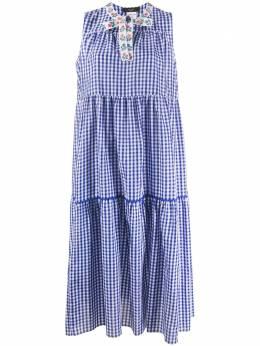 Max Mara клетчатое платье без рукавов 52211101600