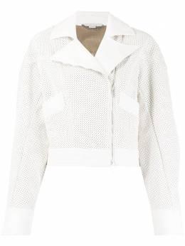 Stella McCartney байкерская куртка с перфорацией 600346SMB67