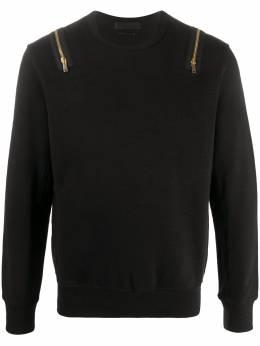 Alexander McQueen свитер с молниями на плечах 360179QDX06