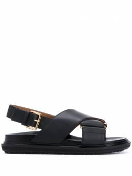 Marni сандалии с перекрестными ремешками FBMS005201P3614