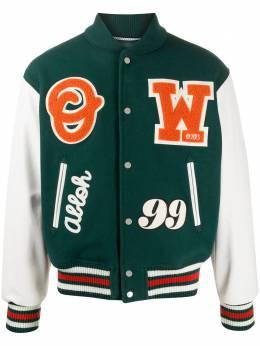 Off-White спортивная куртка с нашивкой-логотипом OMJA041E20LEA0015720