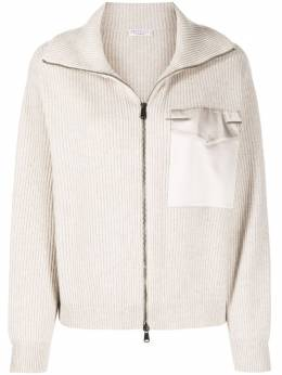 Brunello Cucinelli ribbed zip-up hoodie M12711106P