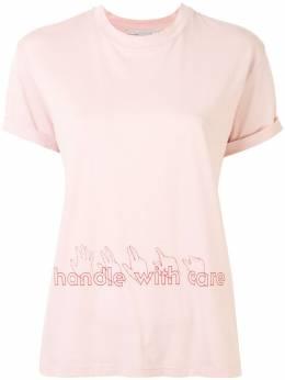 Stella McCartney футболка Handle With Care 457142SNW65